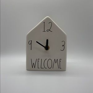 "NEW RAE DUNN ""WELCOME"" CLOCK"